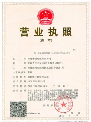 华强营业执照证书