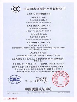 中国质量认证证书4